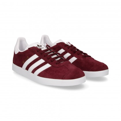 3 WHITE STRIPES IN BURGUNDY SUEDE