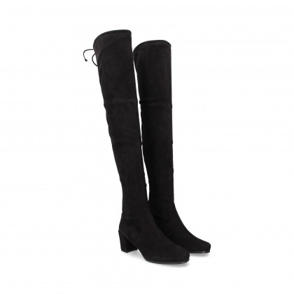 HIGH BOOT WILDLEDER SCHWARZ