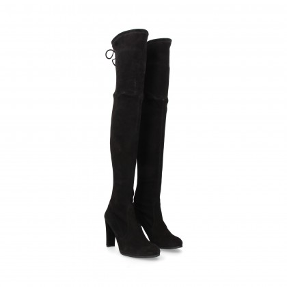 MUSKETEER BOOT SUEDE BLACK