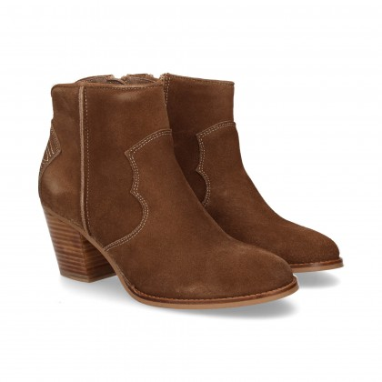 LEATHER SPLIT COWHIDE BOOT