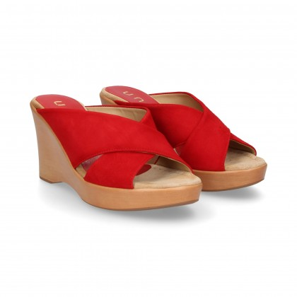 WEDGE CROSS PADDLE SUEDE RED