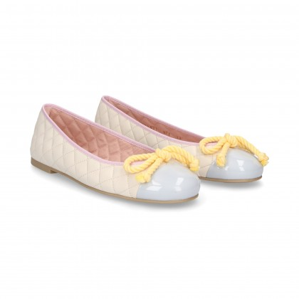 DANCER CHANEL TOECAP ARC BEIGE BOW