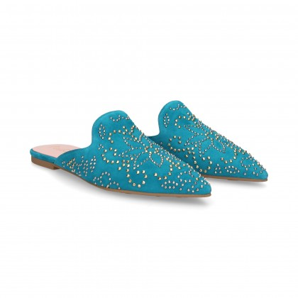HIMMELBLAUE TACKS TIP SLIPPER