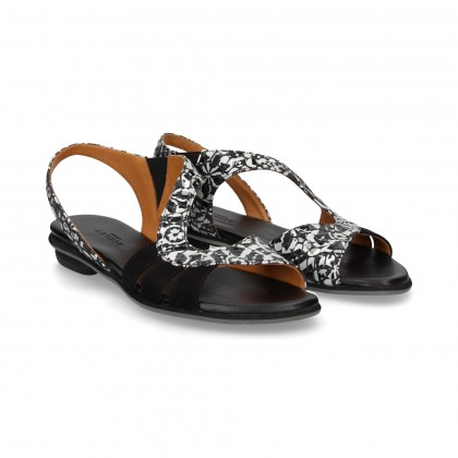 WAVE SANDAL BLACK PORT PATENT LEATHER