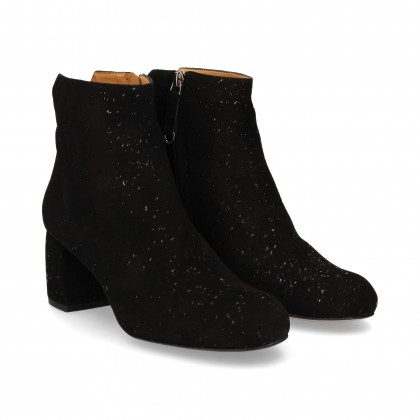 ZIPPER BOOT SUEDE SUEDE DROPS BLACK