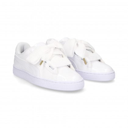 SPORTY WHITE PATENT LEATHER LACE