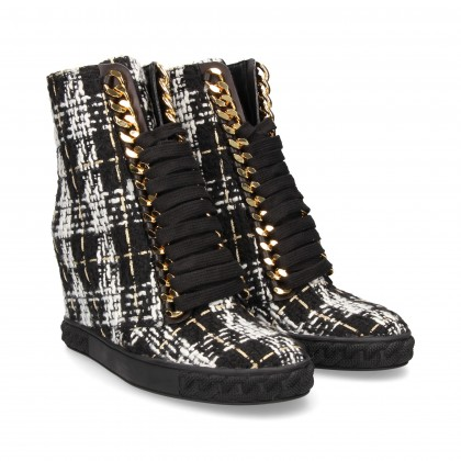 WEDGE BOOT INTER CHAIN INTER CHAIN BLACK FABRIC