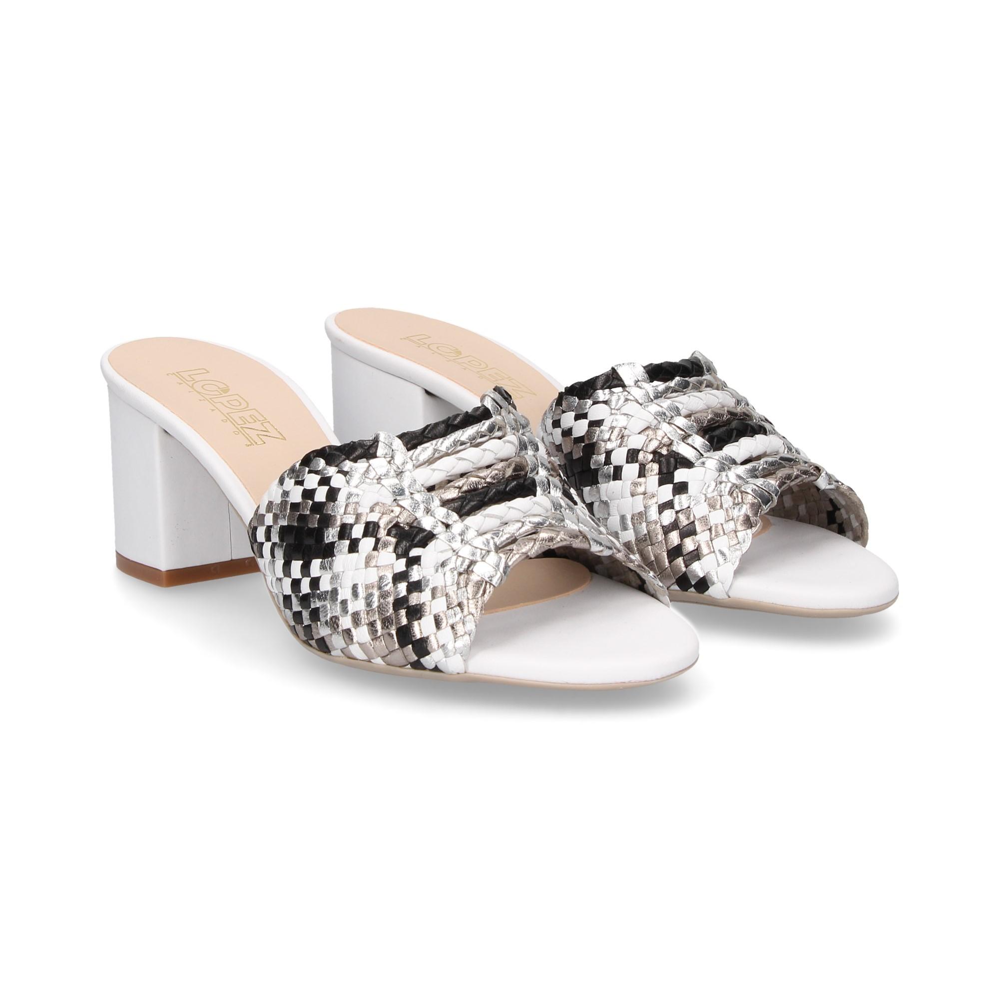 Sandaletten Blanco Kess Frauen Absatz Mit 18261 Multi fg6Yb7y