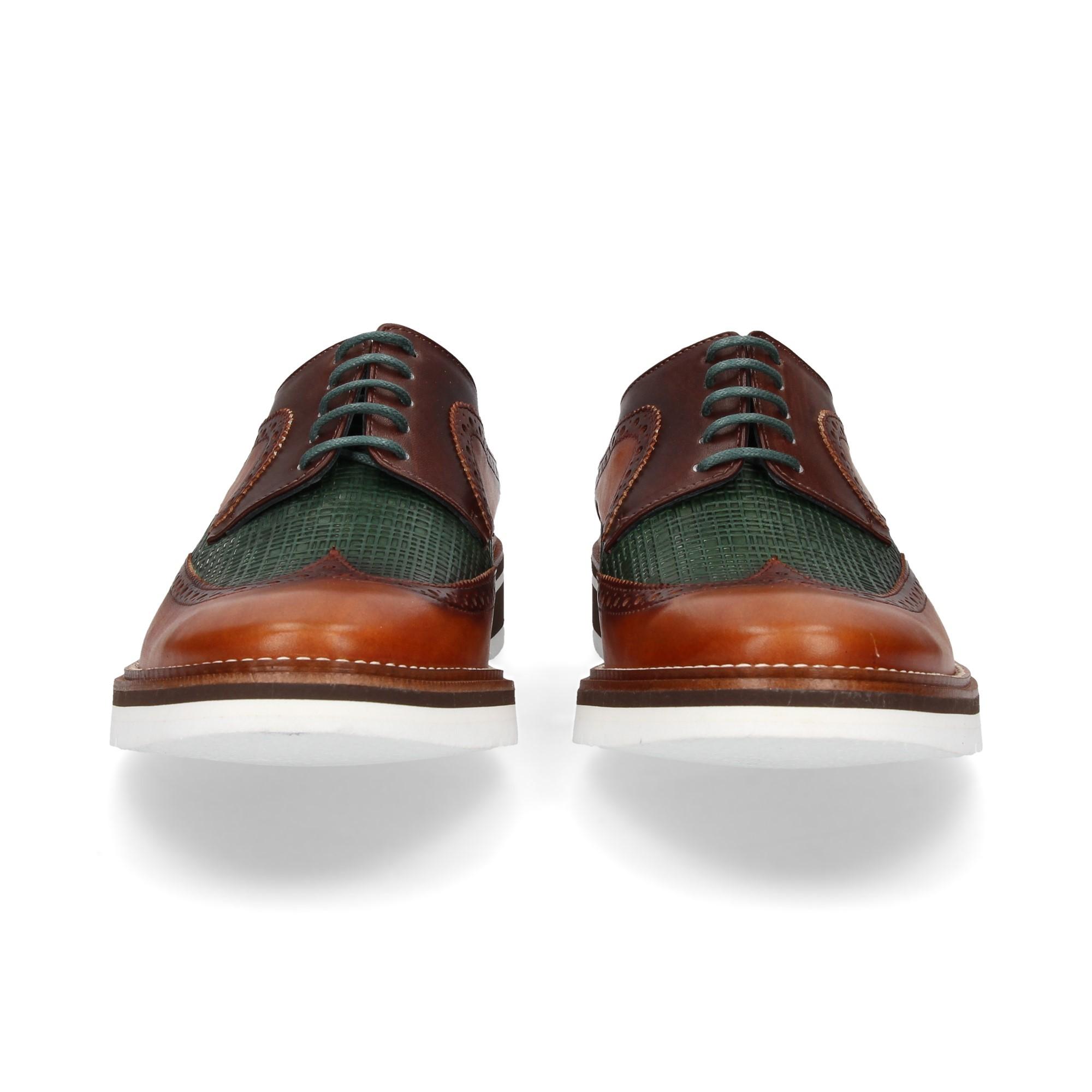 blucher-grabado-cuero-verde-marron