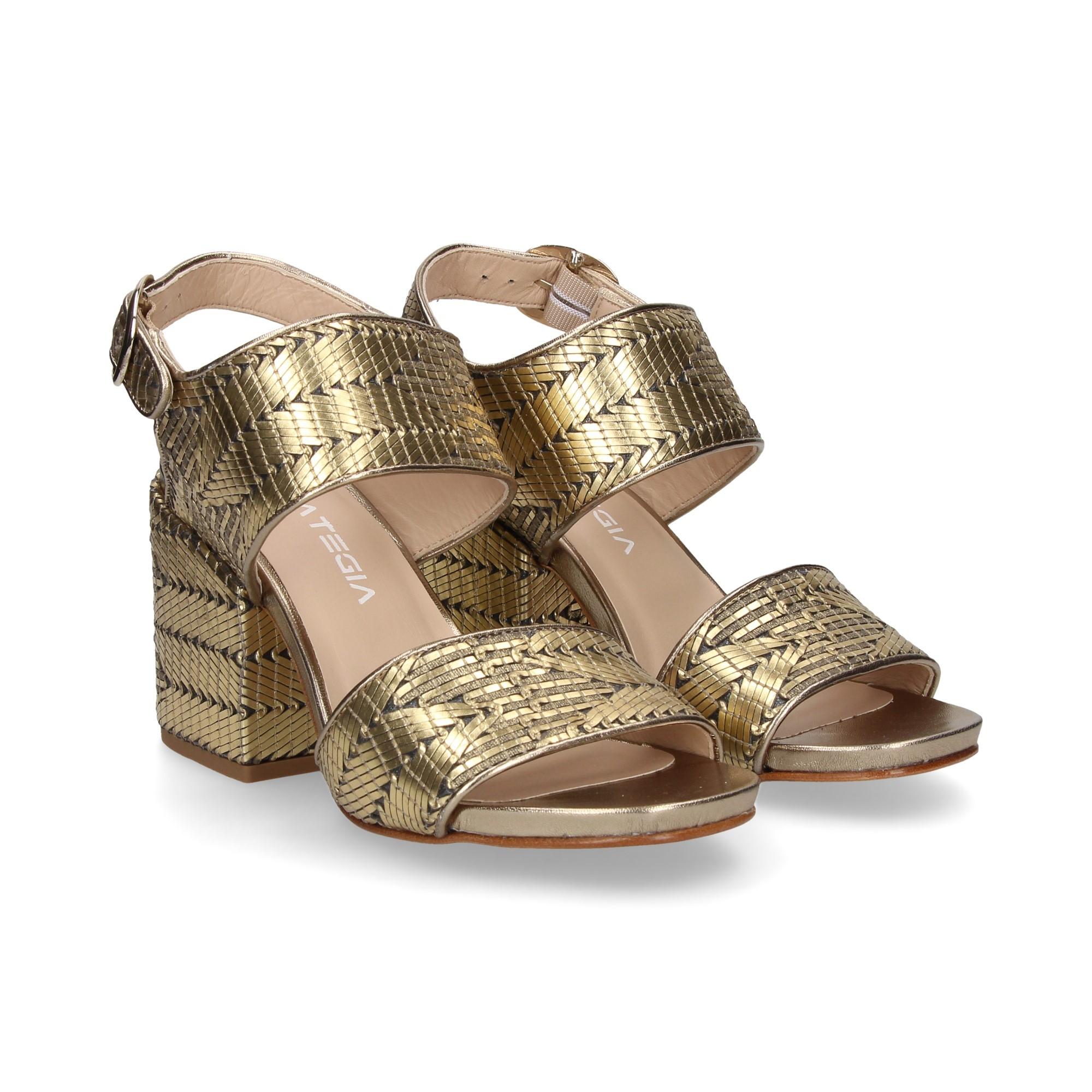 23f90de3830 STRATEGIA Women s heeled sandals A3594 ANTENA ORO