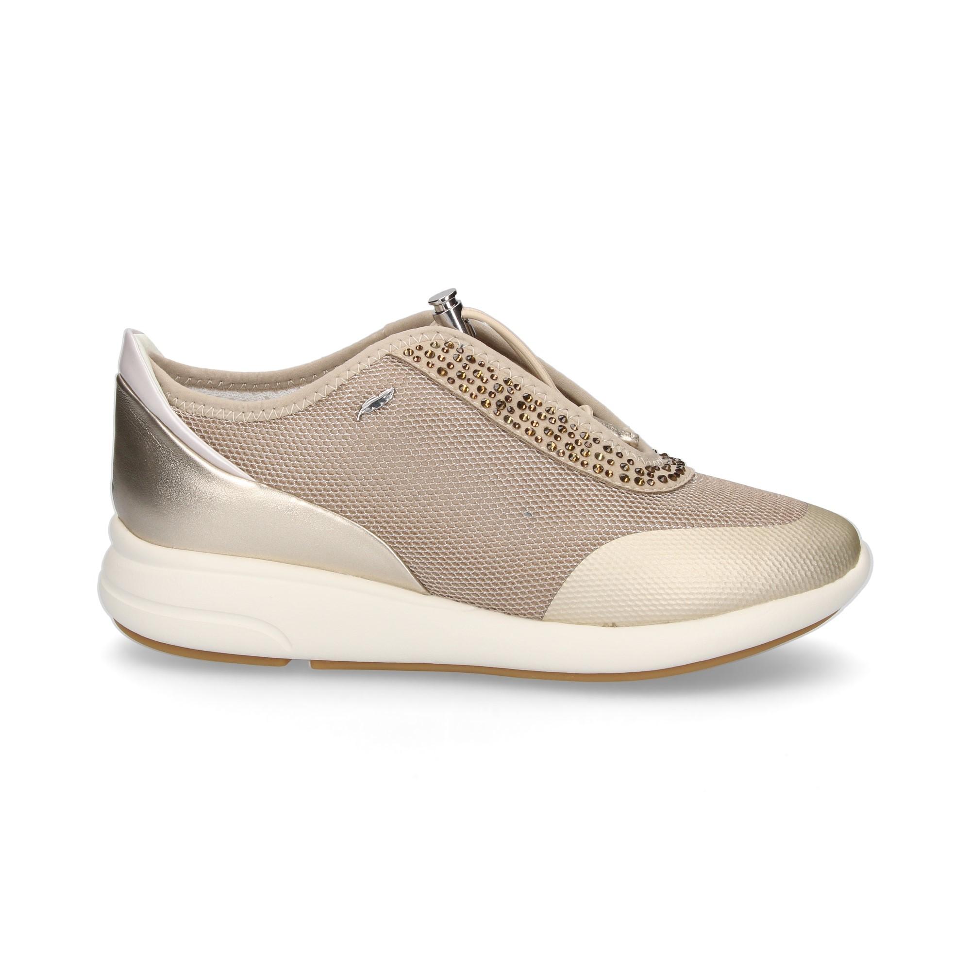 75e15133ee5213 GEOX Chaussures de sport pour femmes D621CE CH62L TAUPE/ORO