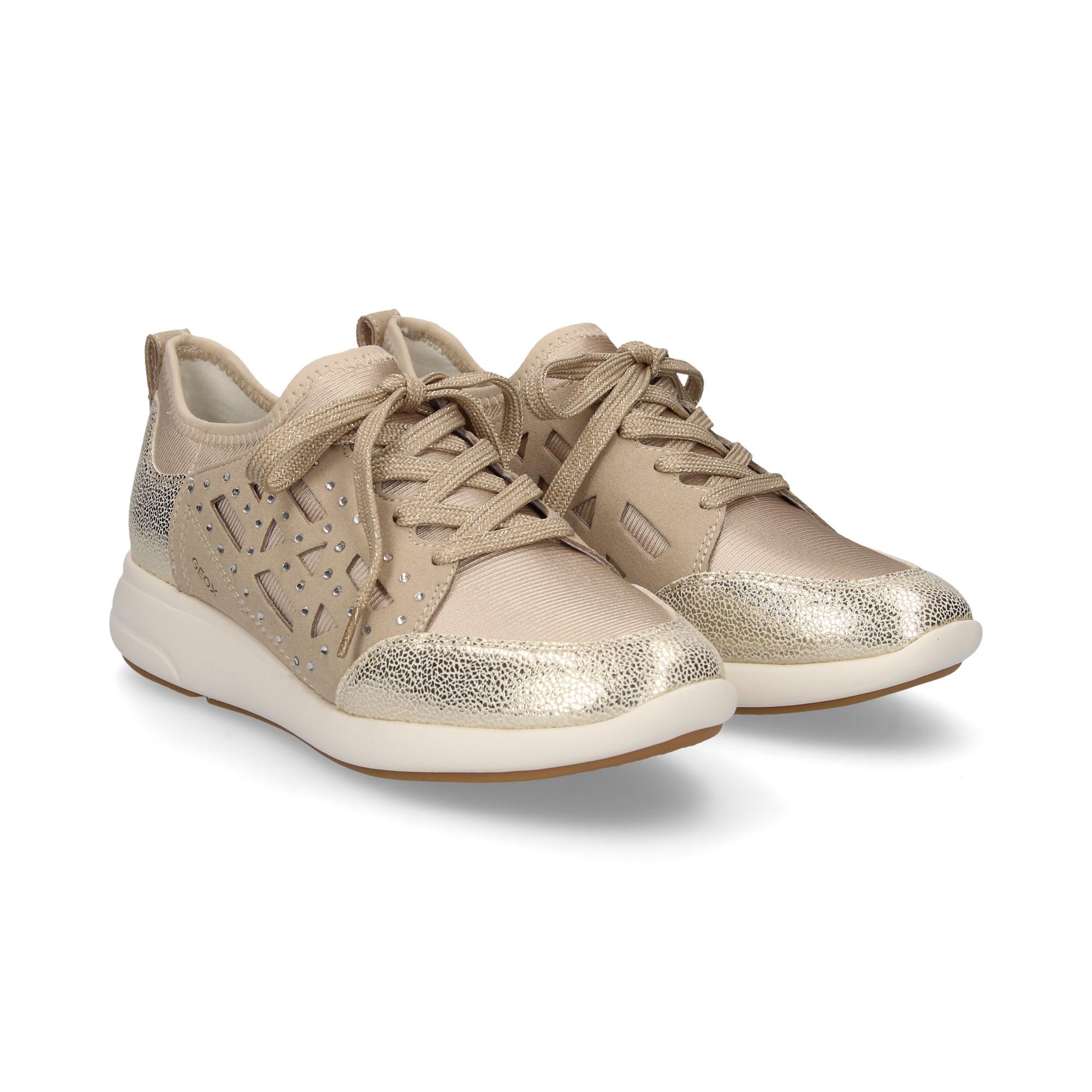 GEOX Zapatillas de Mujer Mujer de D821CB CH62L TAUP/ORO ff94cf