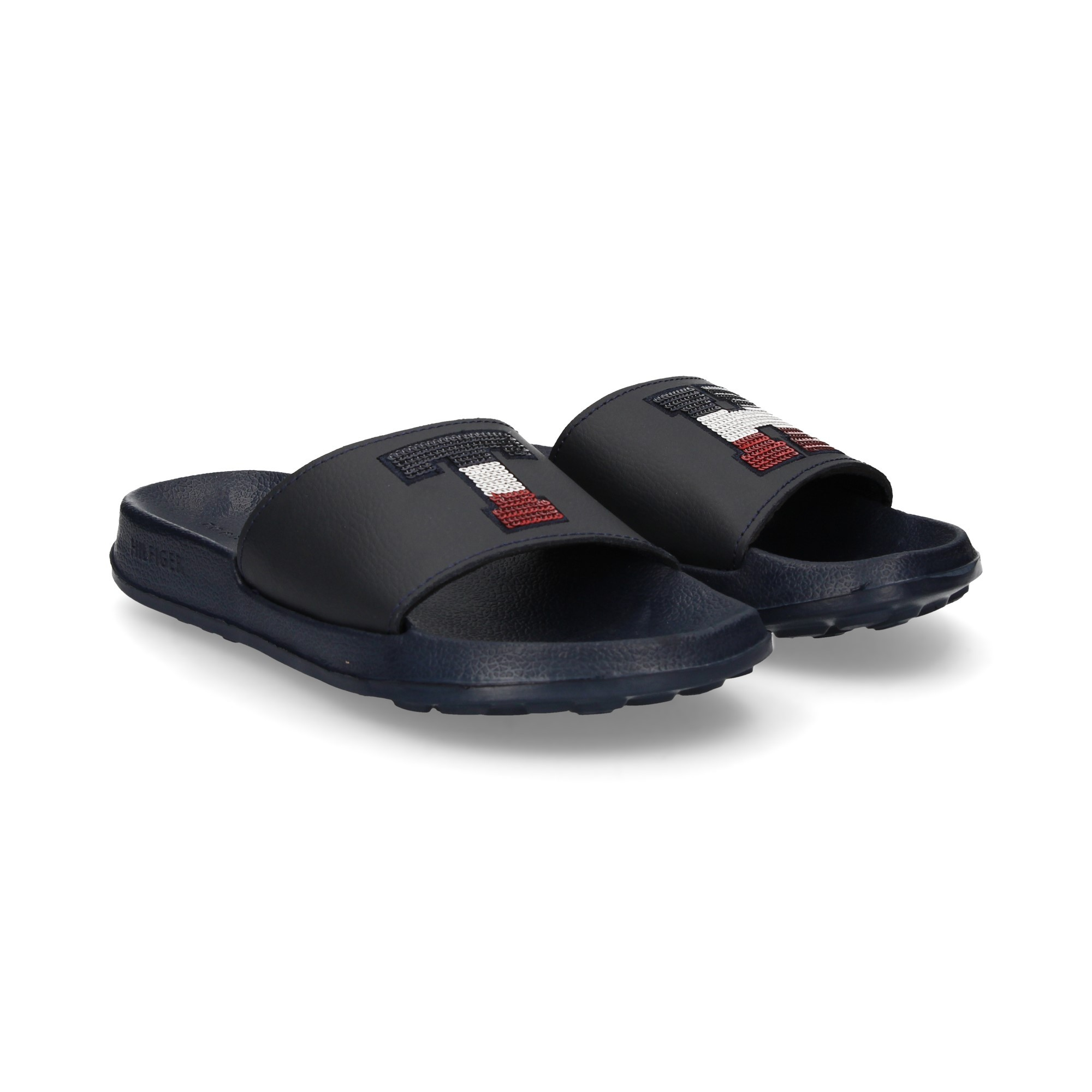 c7813489273e7 TOMMY HILFIGER Women's Flat sandals FW02655 403 MARINO