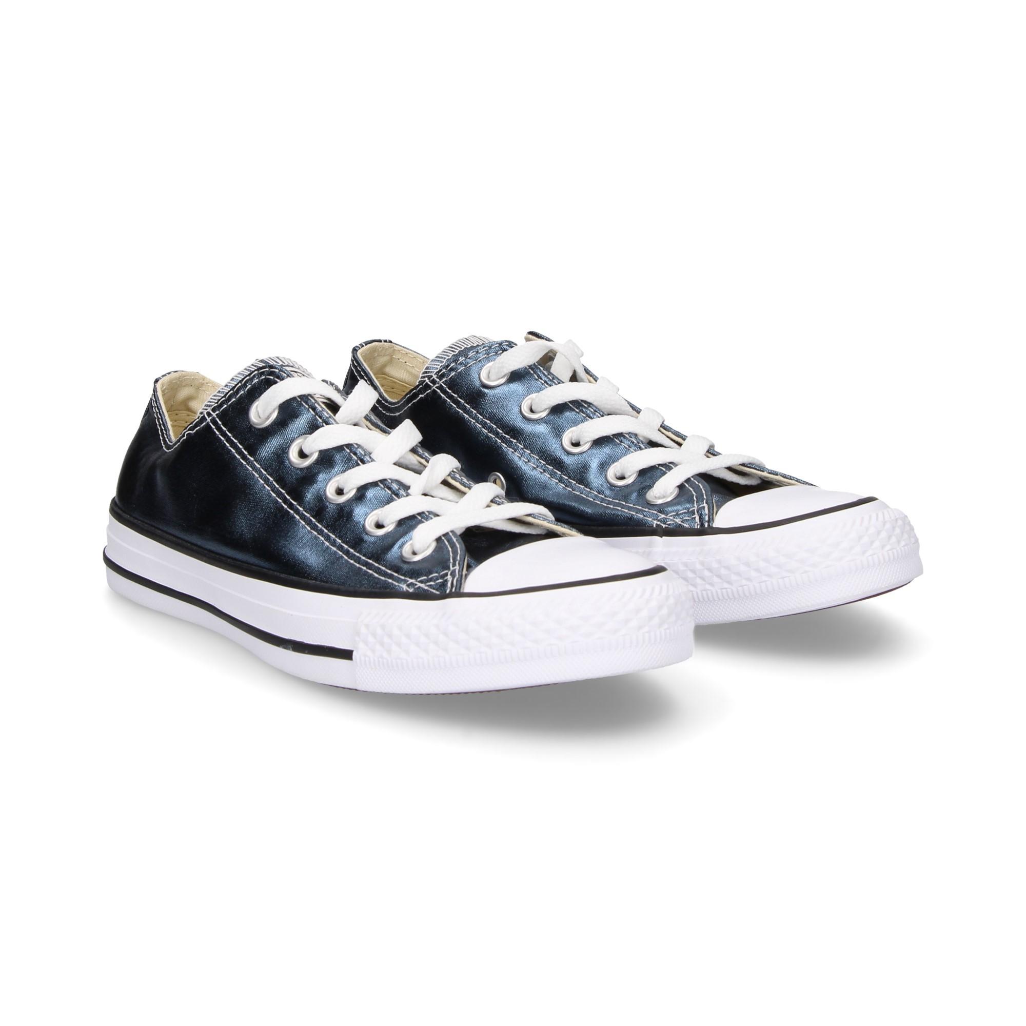 converse metallic azul
