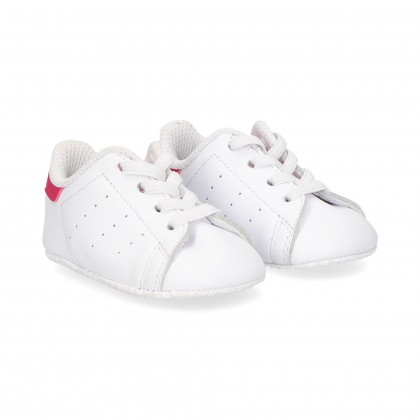 SPORTY BABY LACES WHITE/RED