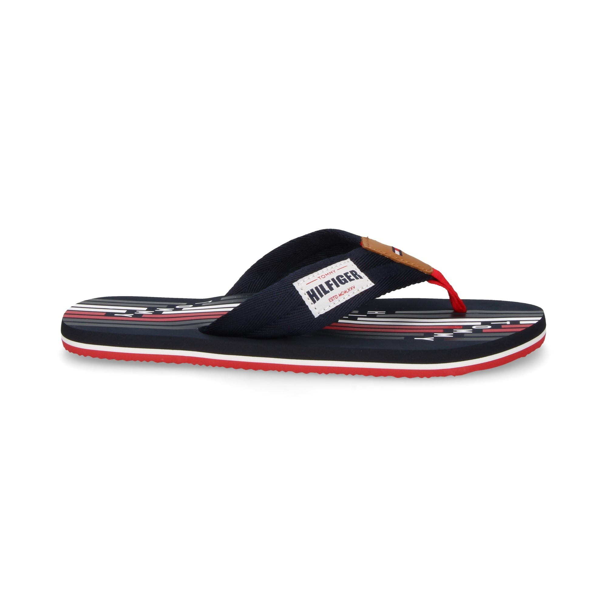 2f968864bfed4 TOMMY HILFIGER Men s Flip Flops FM1609 403 MIDNIGHT
