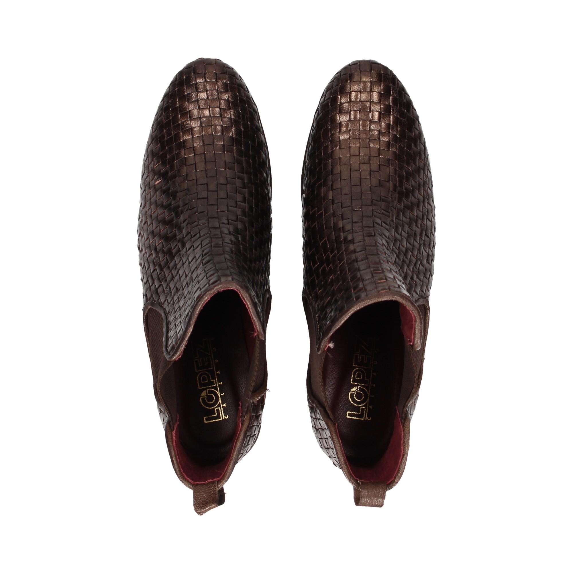 botin-elasticos-trenzado-piel-bronce