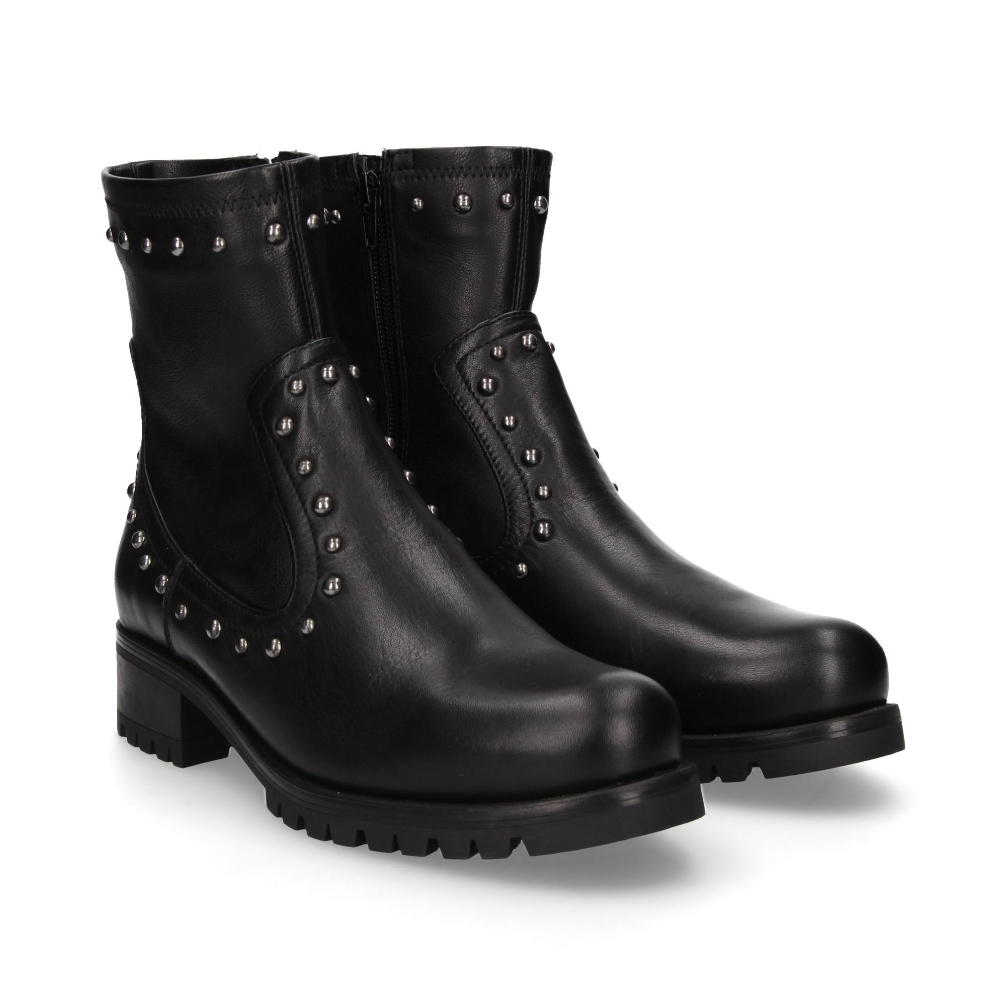 f53627e9f UNISA Women s flat ankle boots ILLESCAS  BLACK NEGRO