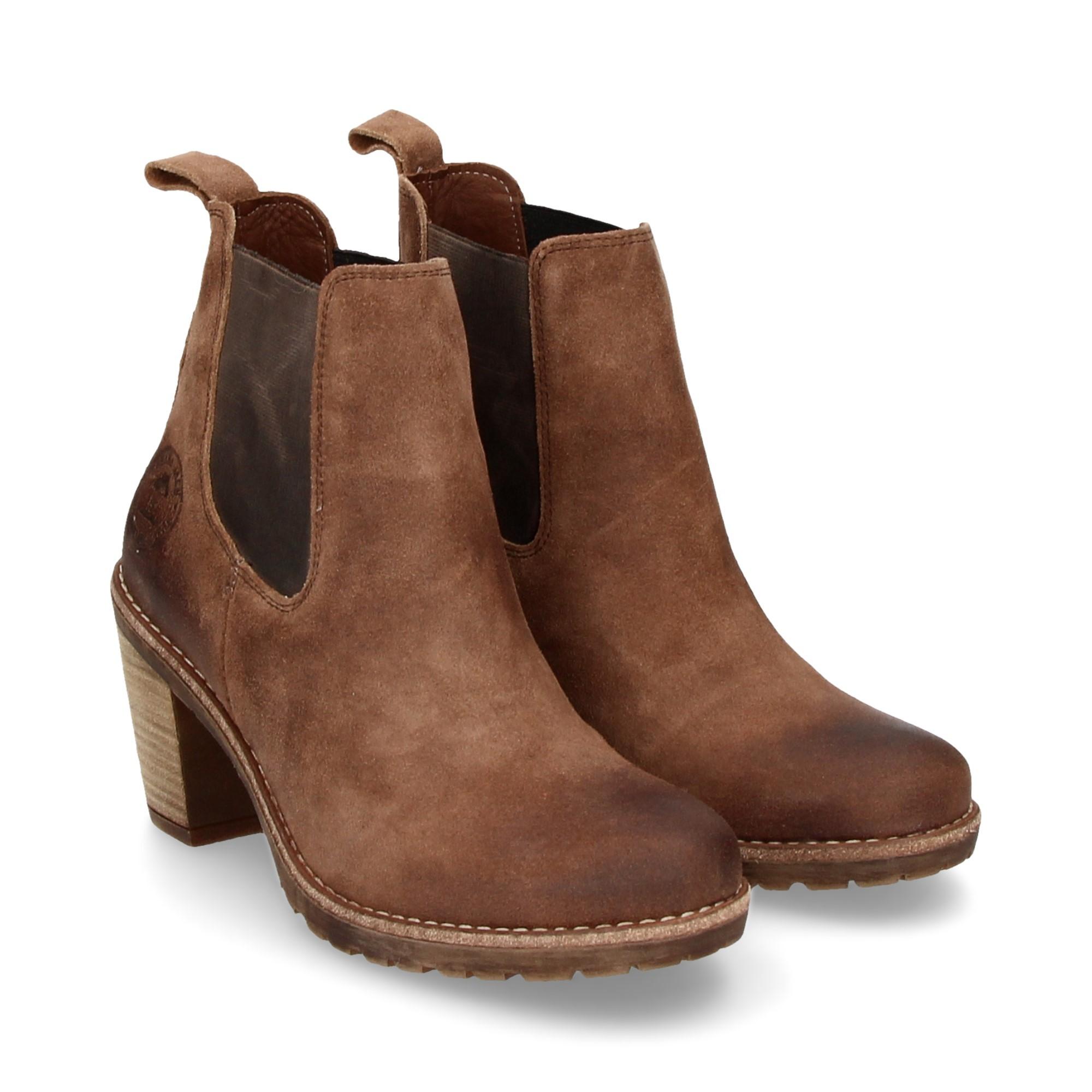 PANAMA JACK Women s Heeled ankle boots AVIGNON B2 TAUPE a2b8eeaec2