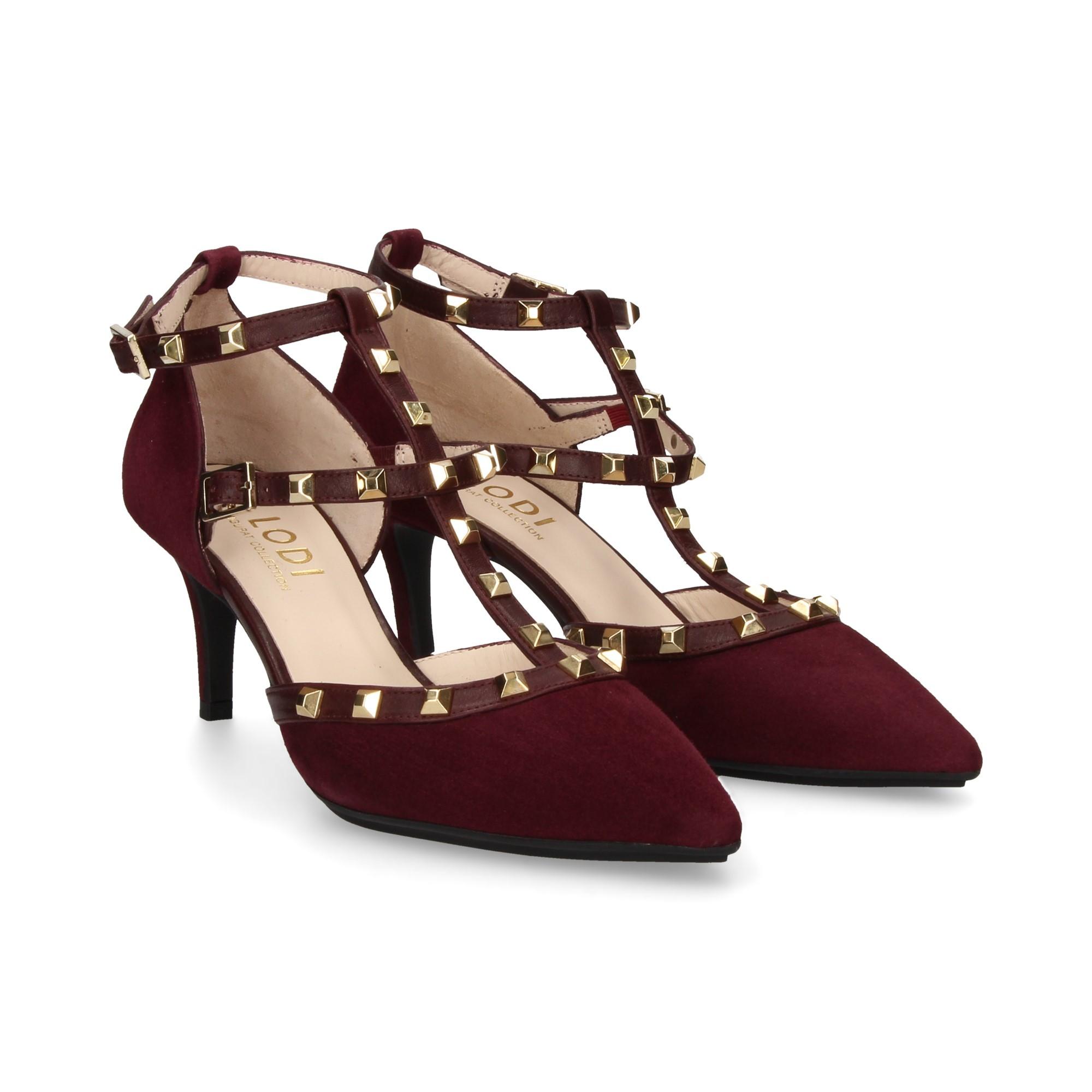 Medio Zapatos Lodi De Erizo Burdeos Go Mujer Tacón wAH1Hxqz
