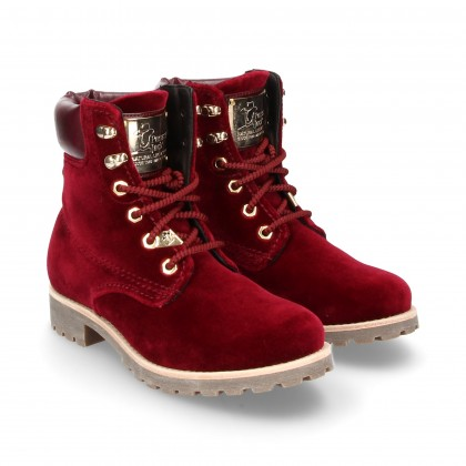 BOOTIES BURGUNDY LEATHER LACES