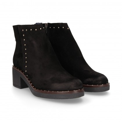 BOOTIE BLACK SUEDE SIDE SCRATCHES