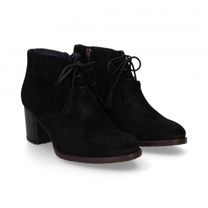 ENGLISH SUEDE BOOTIE BLACK