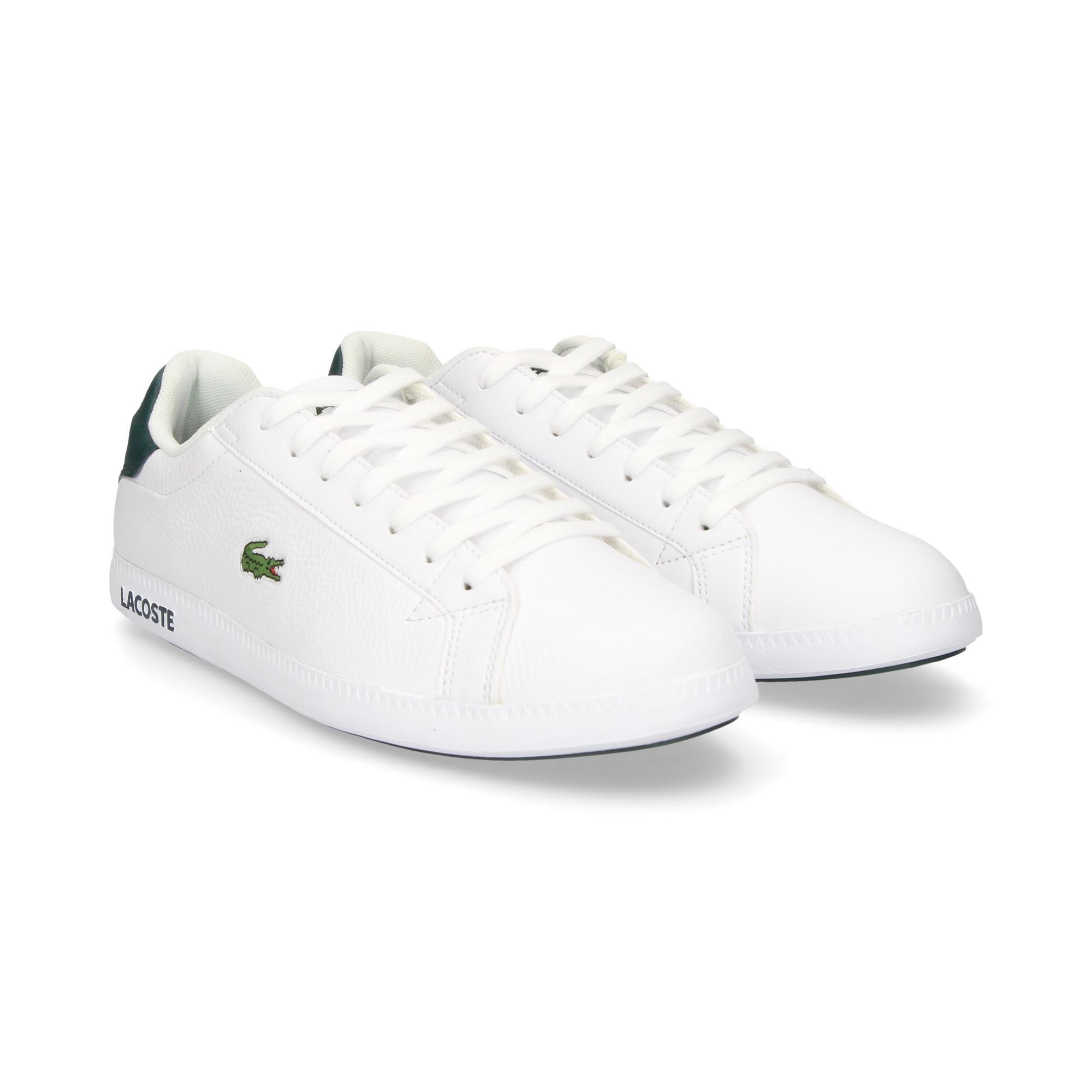 LACOSTE Men s sneakers 35SPM0013 1R5 WHT DK GRN 9b075036c0