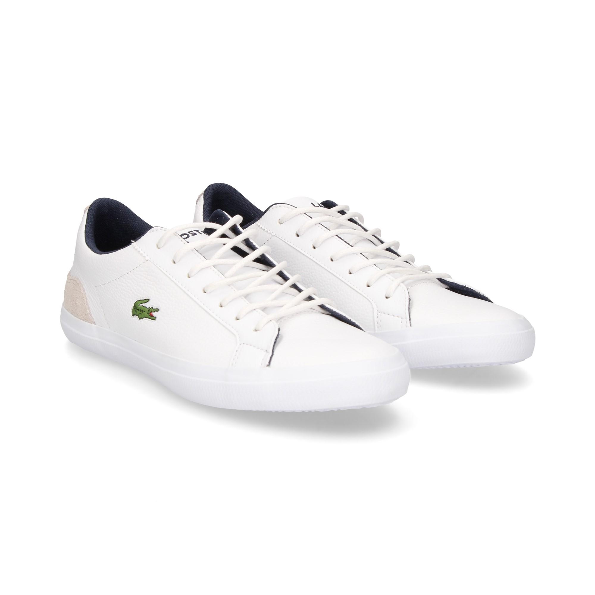 LACOSTE Men s sneakers 36CAM0048 042 WHT NVY 35764ea0e6