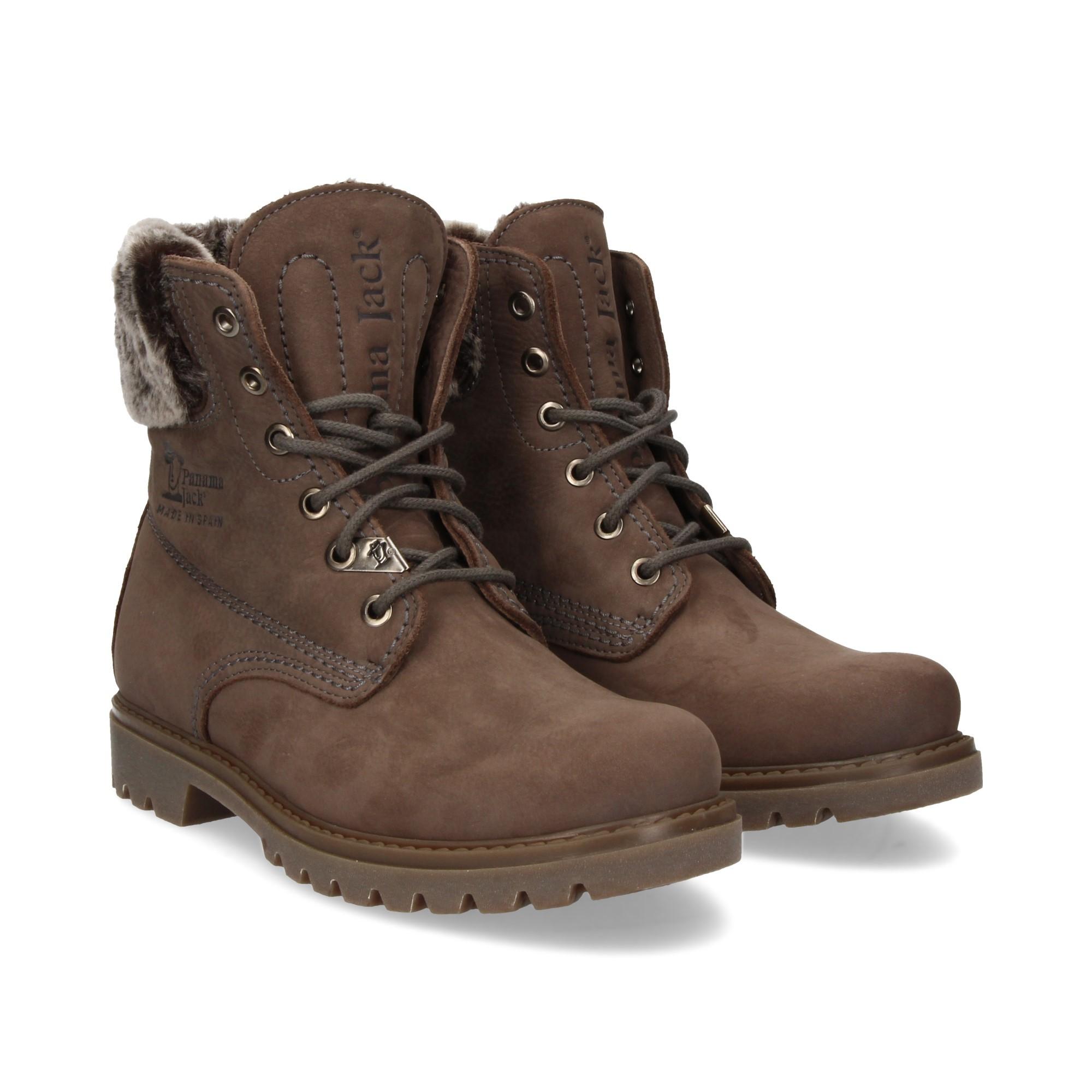 62e1270e11b PANAMA JACK Women's flat ankle boots FELICIA B17 NOBUCK GRIS