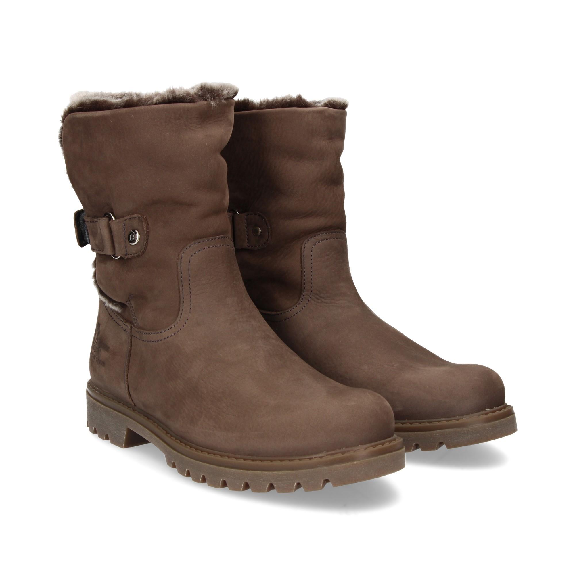 c48baf056b5 PANAMA JACK Women s flat ankle boots FELIA B44 NOBUCK GRIS