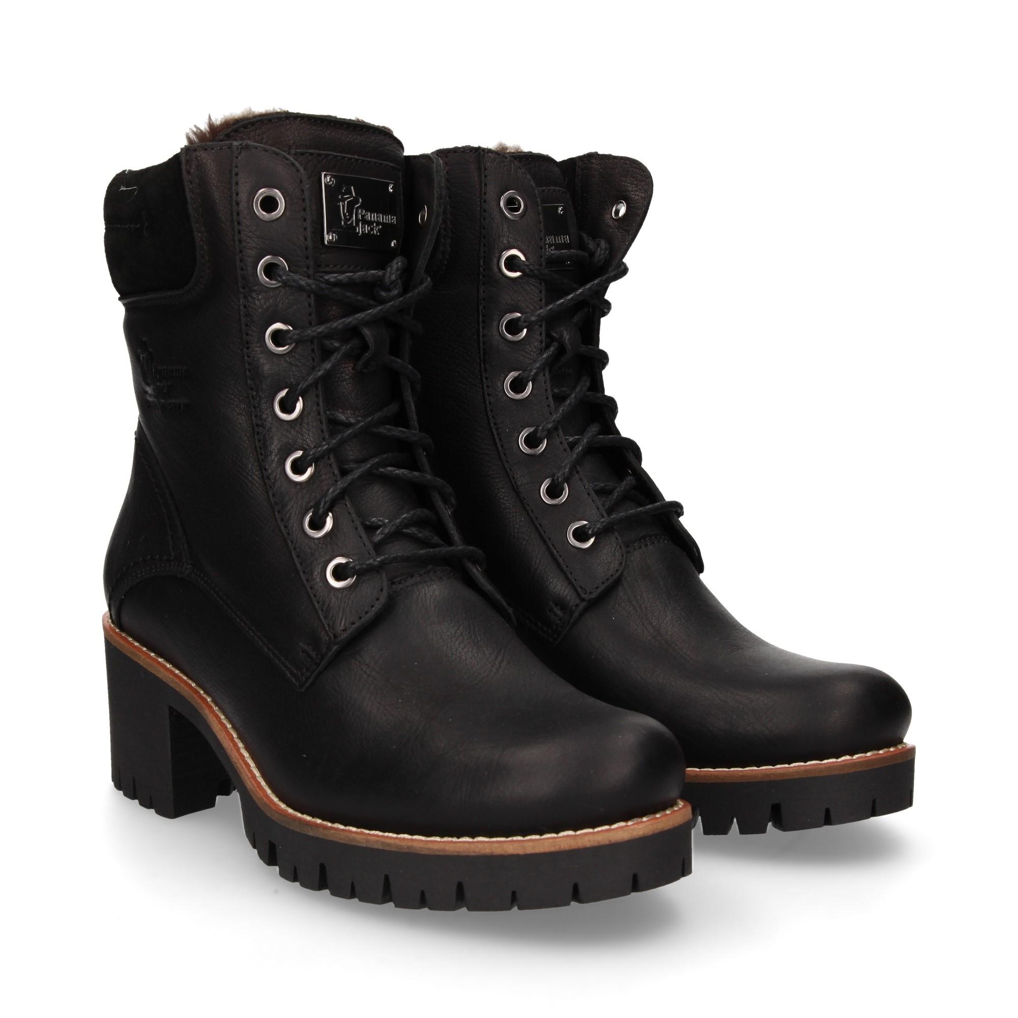 4ef0468cce4459 PANAMA JACK Women s Heeled ankle boots PHOEBE B17 NAPA NEGRO
