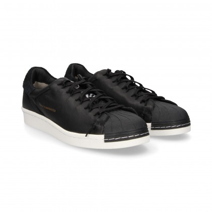 SPORTY CORDONED CANVAS/BLACK LEATHER