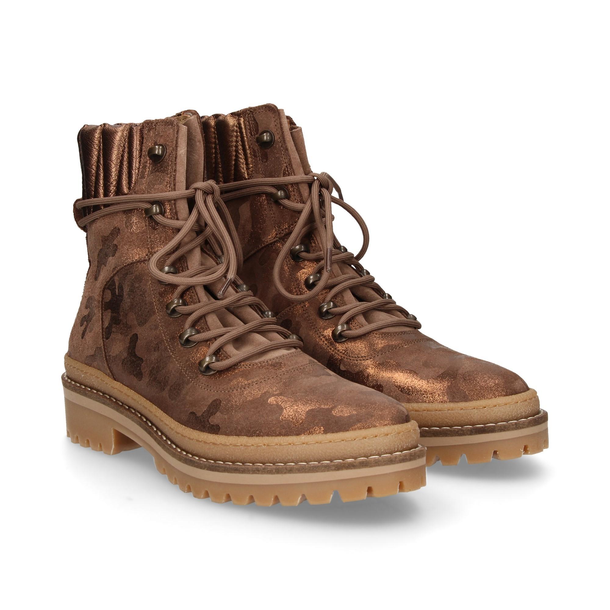 0c2a5f3e7aa3 TOMMY HILFIGER Women s flat ankle boots FW03447905 SHINY CAMO