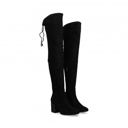 BOOT STRAS TACON SUEDE/LYCRA BLACK