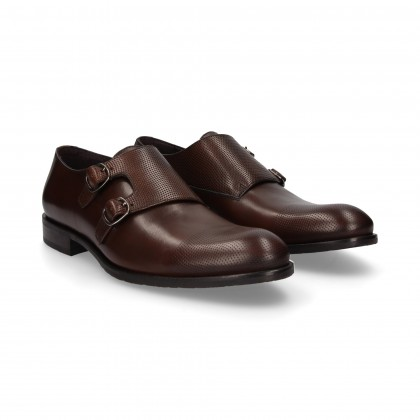 MOCASIN 2 HEBILLAS MARRON