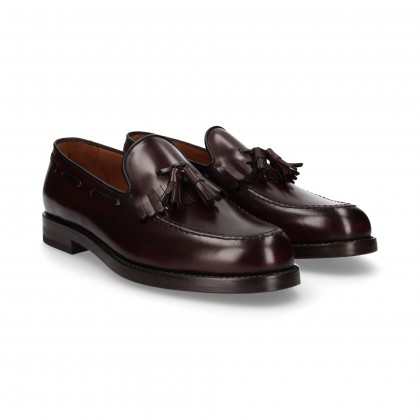 MOCASSIN POOPOS FLORAISON BORDEAUX AUTHENTIQUE