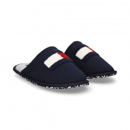 BLUE TEXTILE SLIPPERS