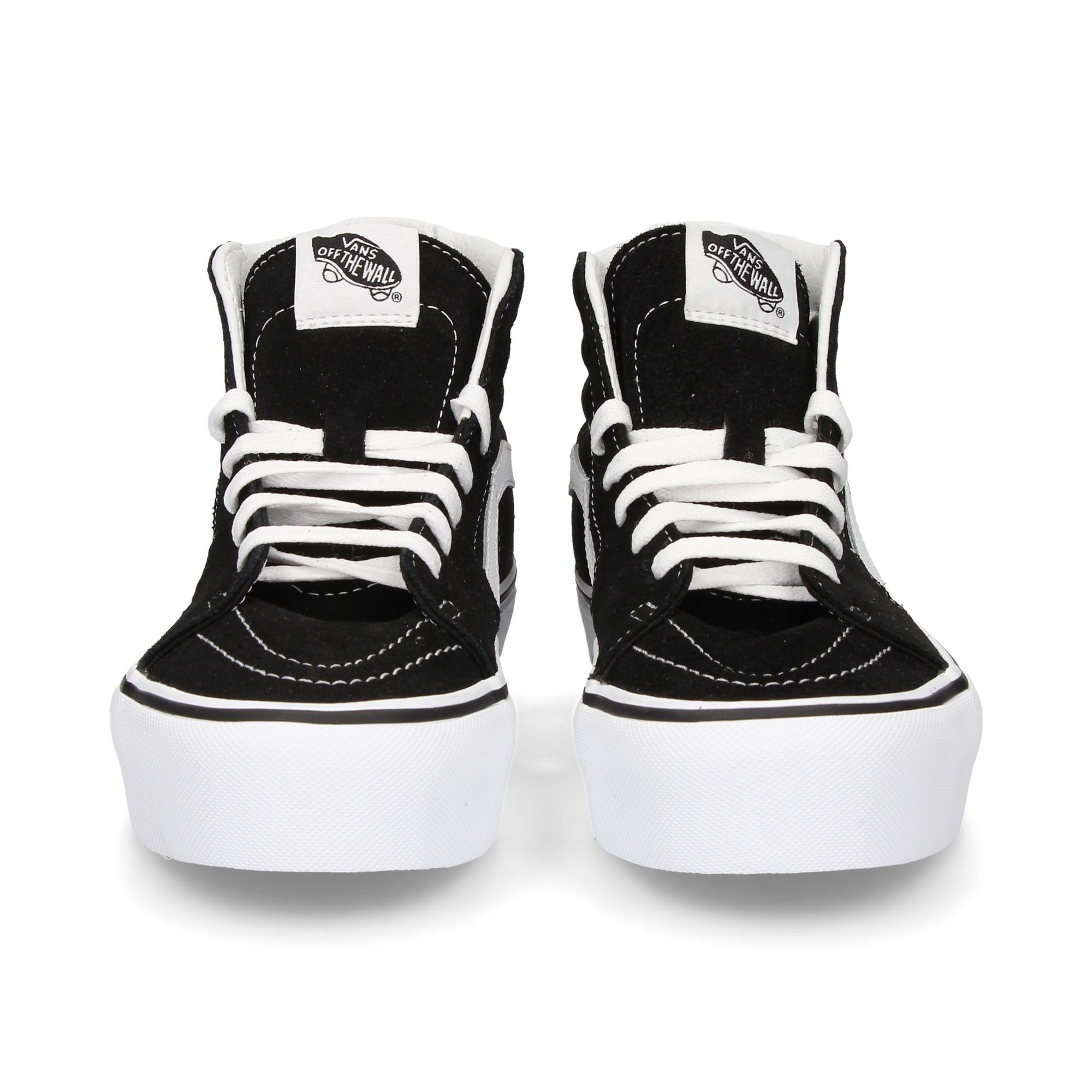 banda-blanco-plataforma-botin-negro