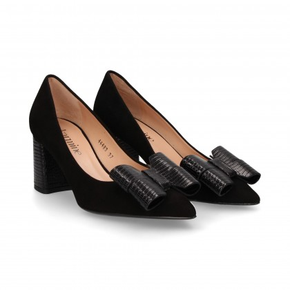 SALON TEJUS BOW BLACK SUEDE