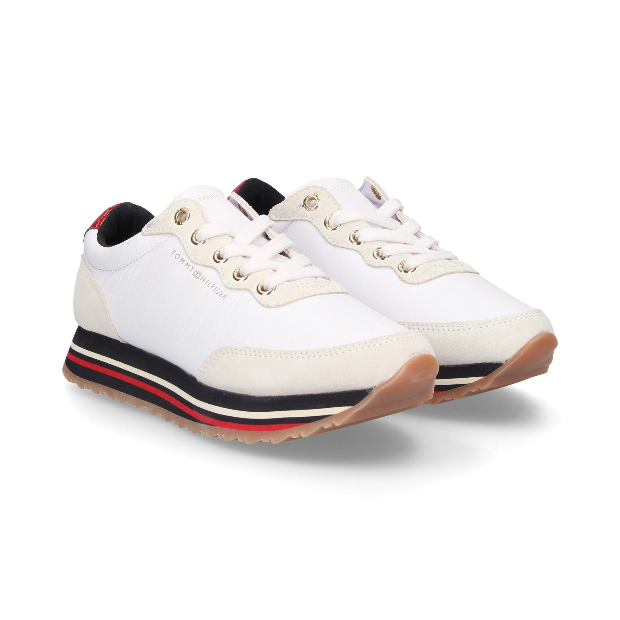 6ba3ebf429d77 TOMMY HILFIGER Women's Sneakers FW03690 100 WHITE