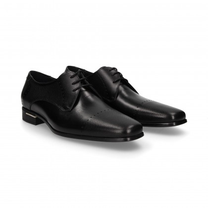 BLACK CHOPPED BLUCHER