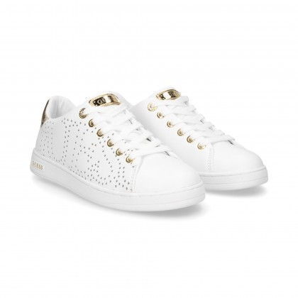SPORTY CORDONED STUDS LEATHER GOLD
