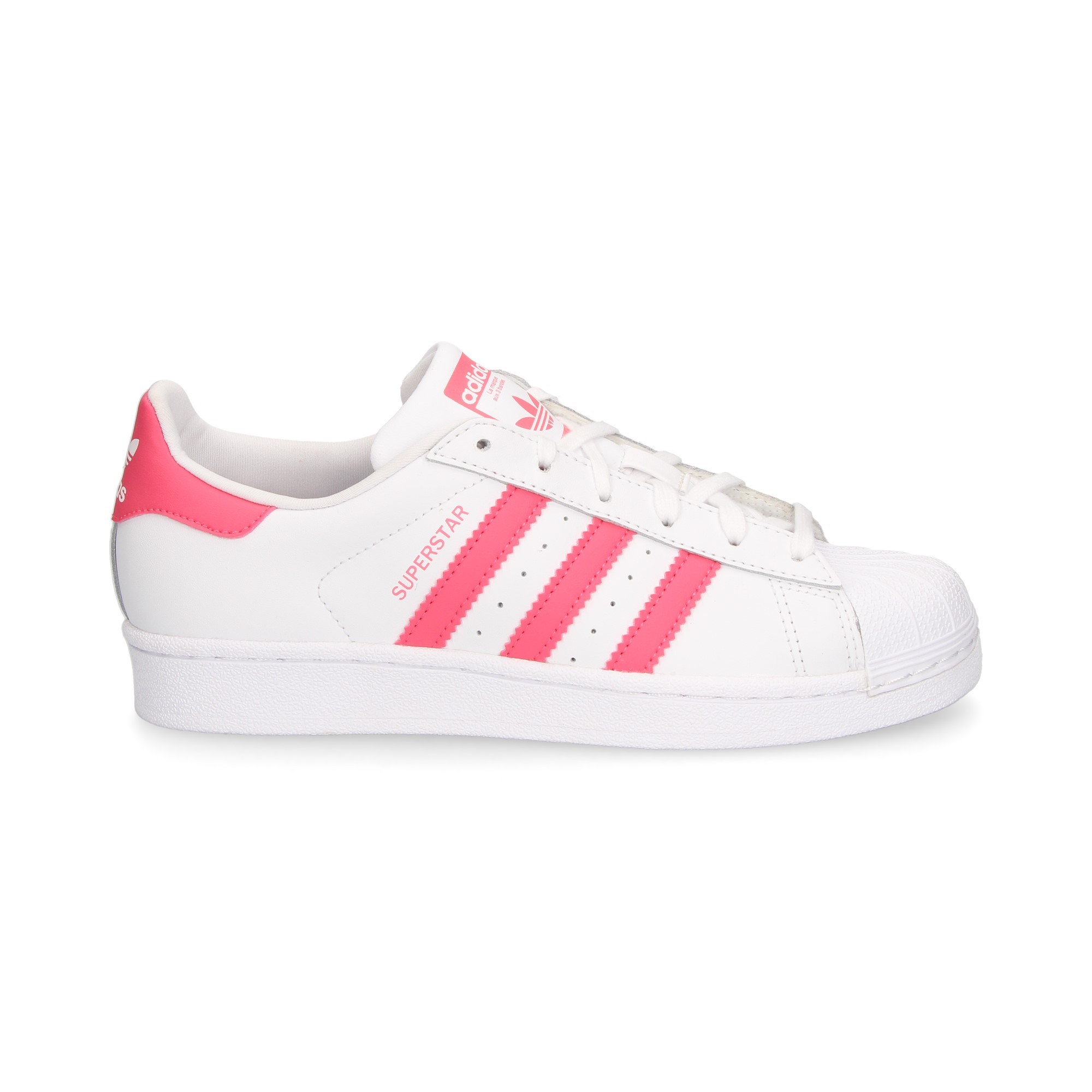 ADIDAS Baskets filles SUPERSTAR J BLANCO