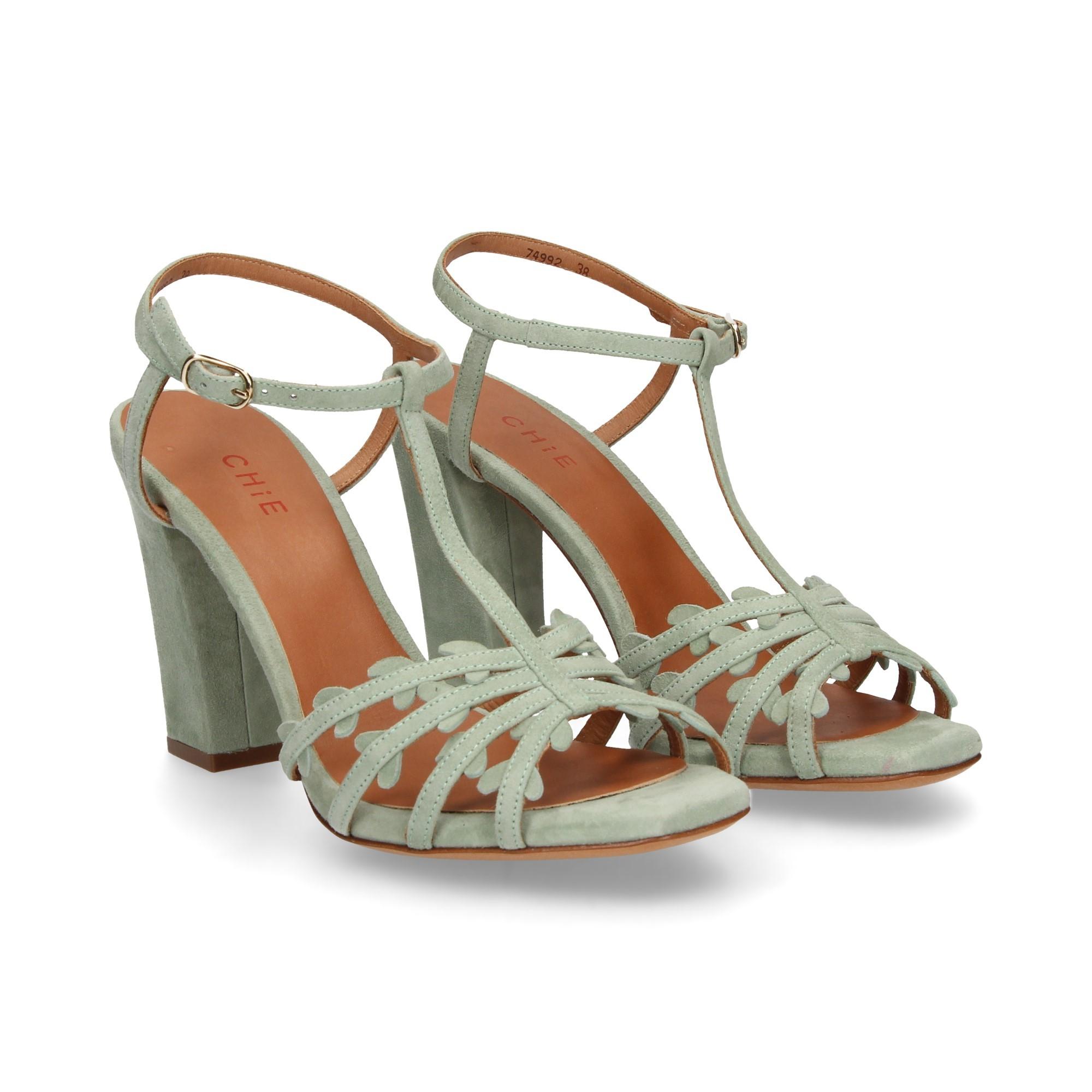 d509338f4 CHIE MIHARA Women's heeled sandals JANINA TURQUESA