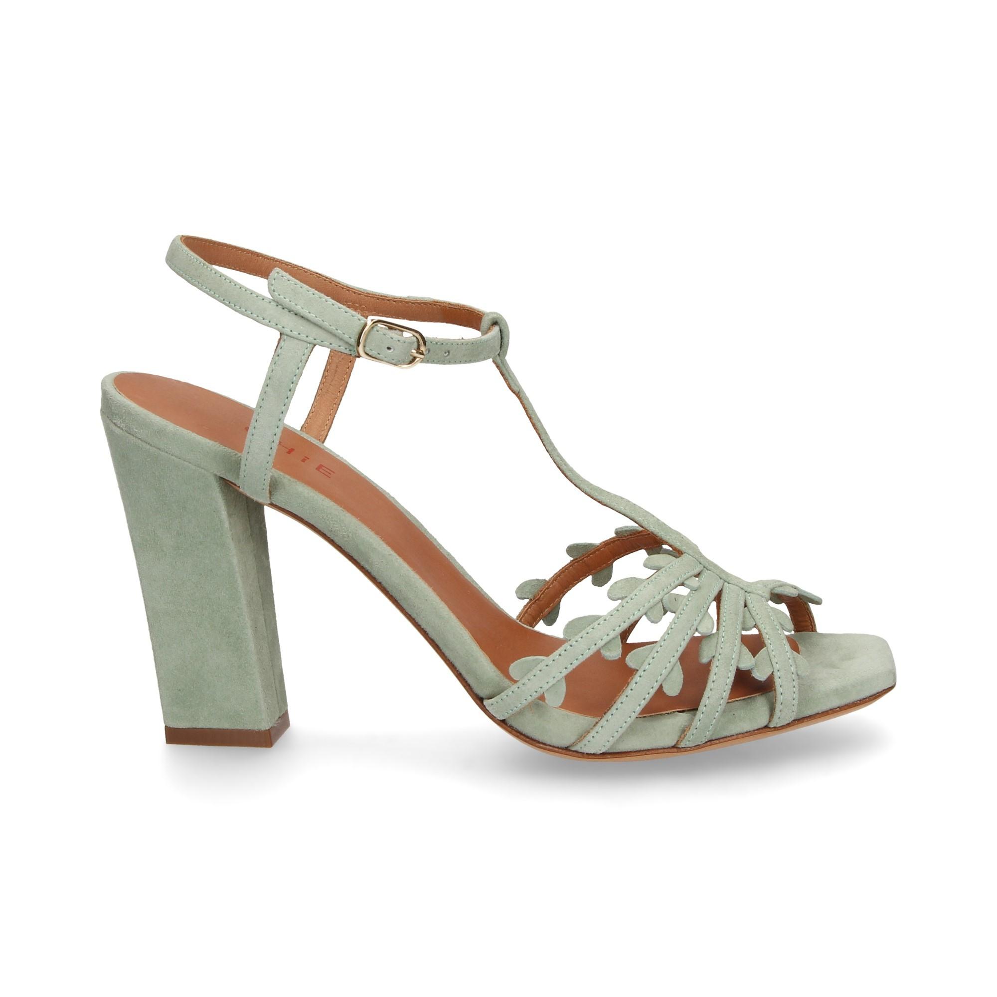 bf1aec1520c11 CHIE MIHARA Women s heeled sandals JANINA TURQUESA