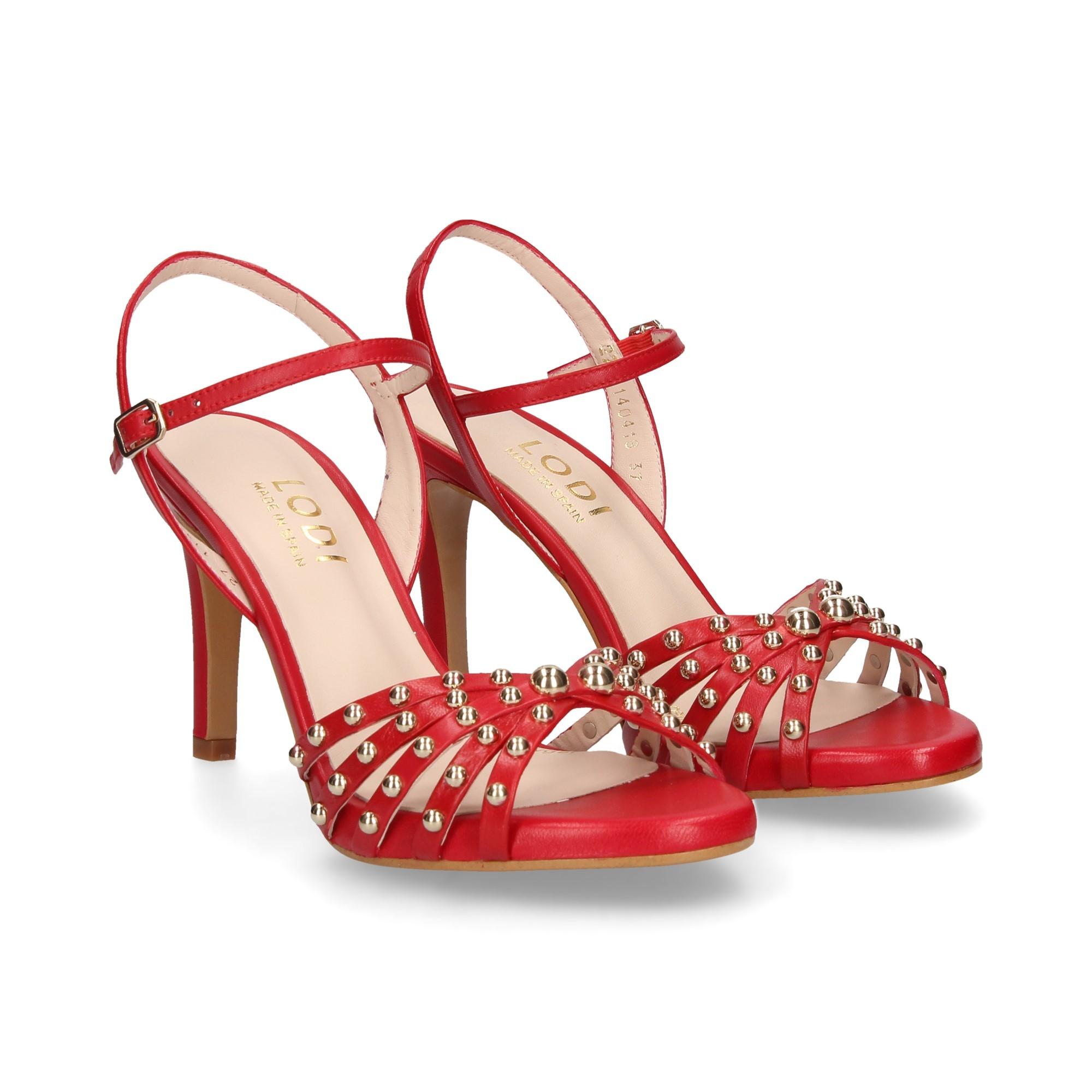 Tacón Rojo Sandalias Ilenia Con De Mujer Lodi DIbH29WEYe