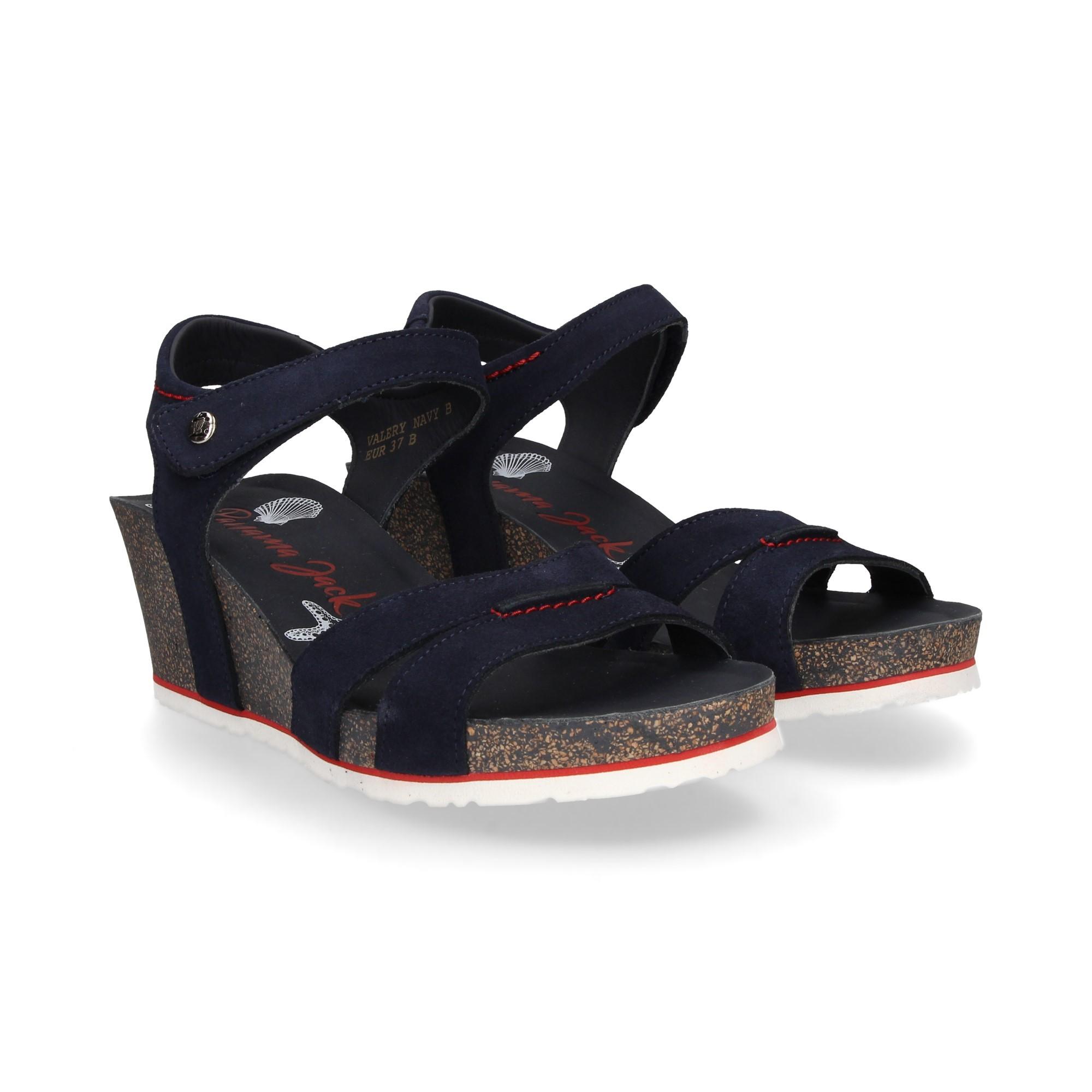 9f3b3d05b69a73 PANAMA JACK Women s wedge sandals VALERI MARINO VELOUR