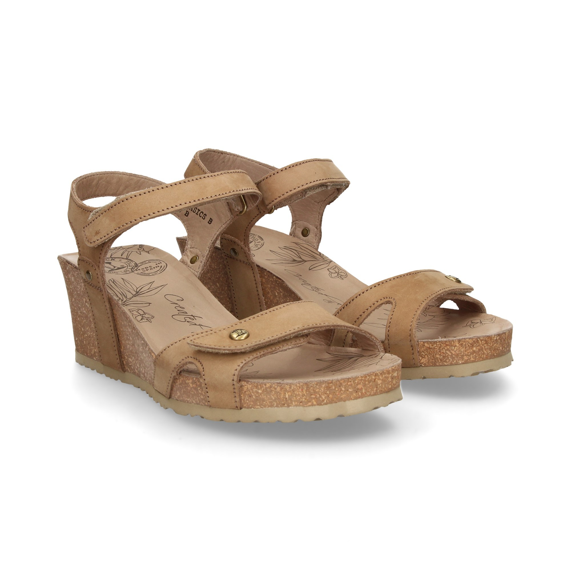 dafbcbb1c684 PANAMA JACK Women s wedge sandals JULIA B3 TAUPE