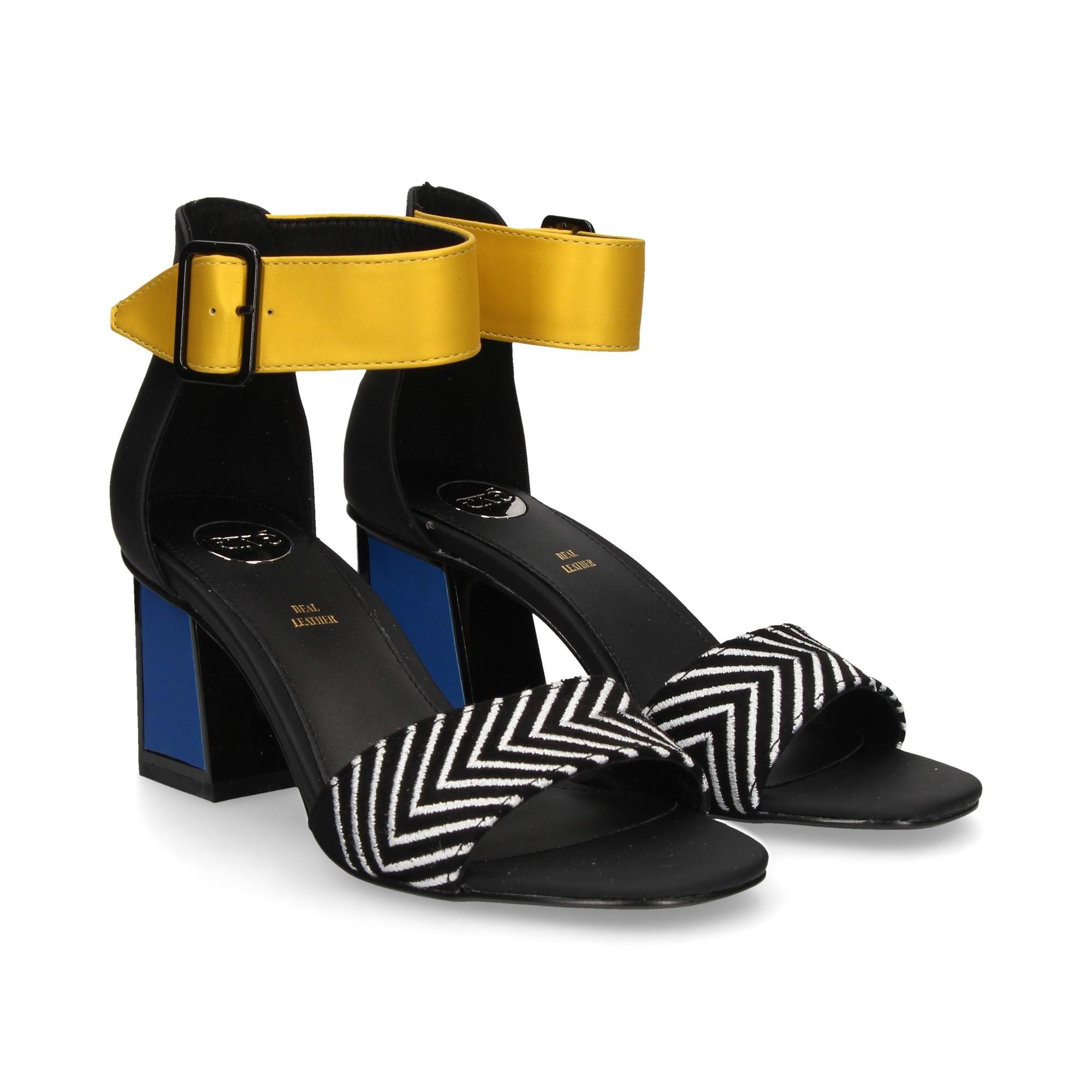 94d08edd9294 EXE Women s heeled sandals MINA-120 NEGRO MULTI
